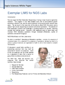 cover page of Exemplar LIMS for NGS Labs whitepaper