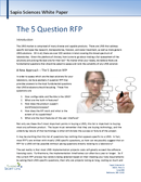cover page of How To Buy a LIMS - The 5 Question RFP whitepaper